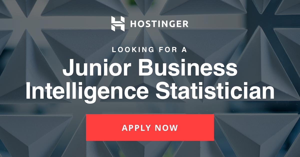 Junior Business Intelligence Statistician
