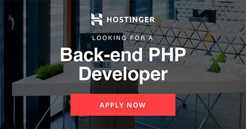 Back-end PHP Developer