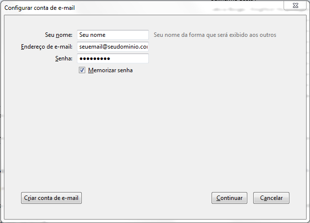 Como configurar seu e-mail no Outlook / Thunderbird / Windows LiveMail? 6