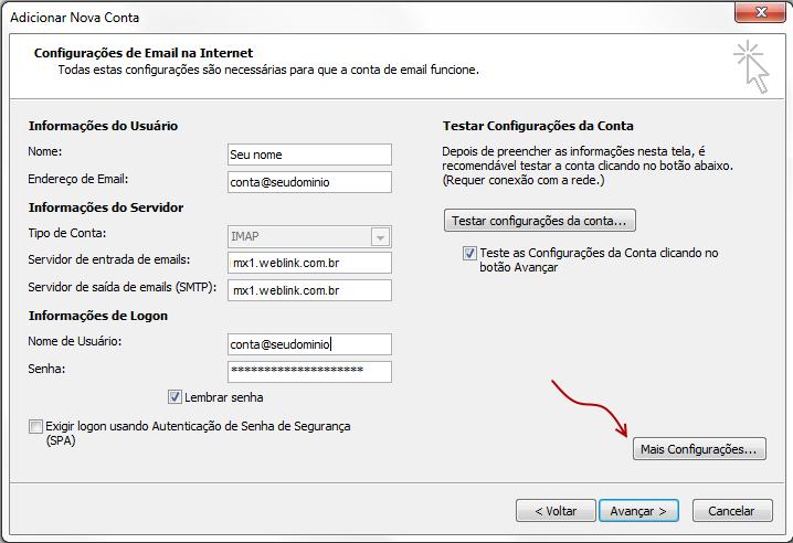 Como configurar seu e-mail no Outlook / Thunderbird / Windows LiveMail? 4