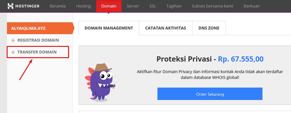 Bagaimana cara transfer domain ke Hostinger?